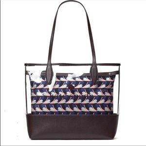 Kate Spade Ash See Through Geo Bird Tote